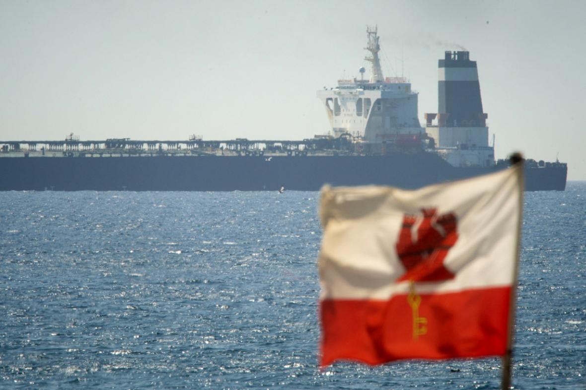 Ropný tanker Grace 1 zadržený Brity u Gibraltaru