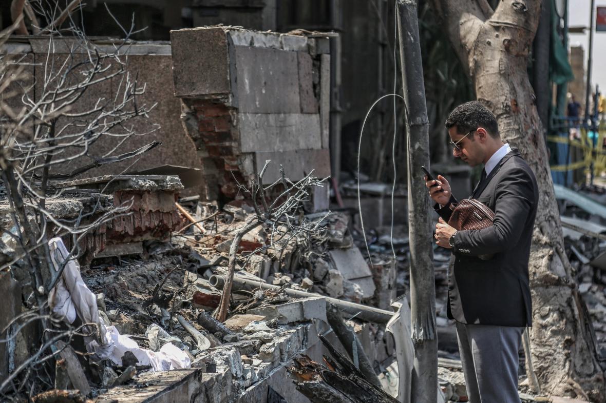 Důsledky výbuchu v Káhiře