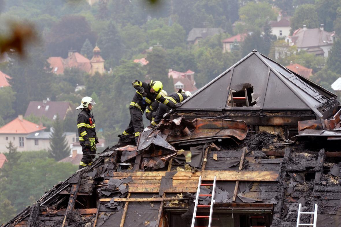 Požár Krejčířovy vily