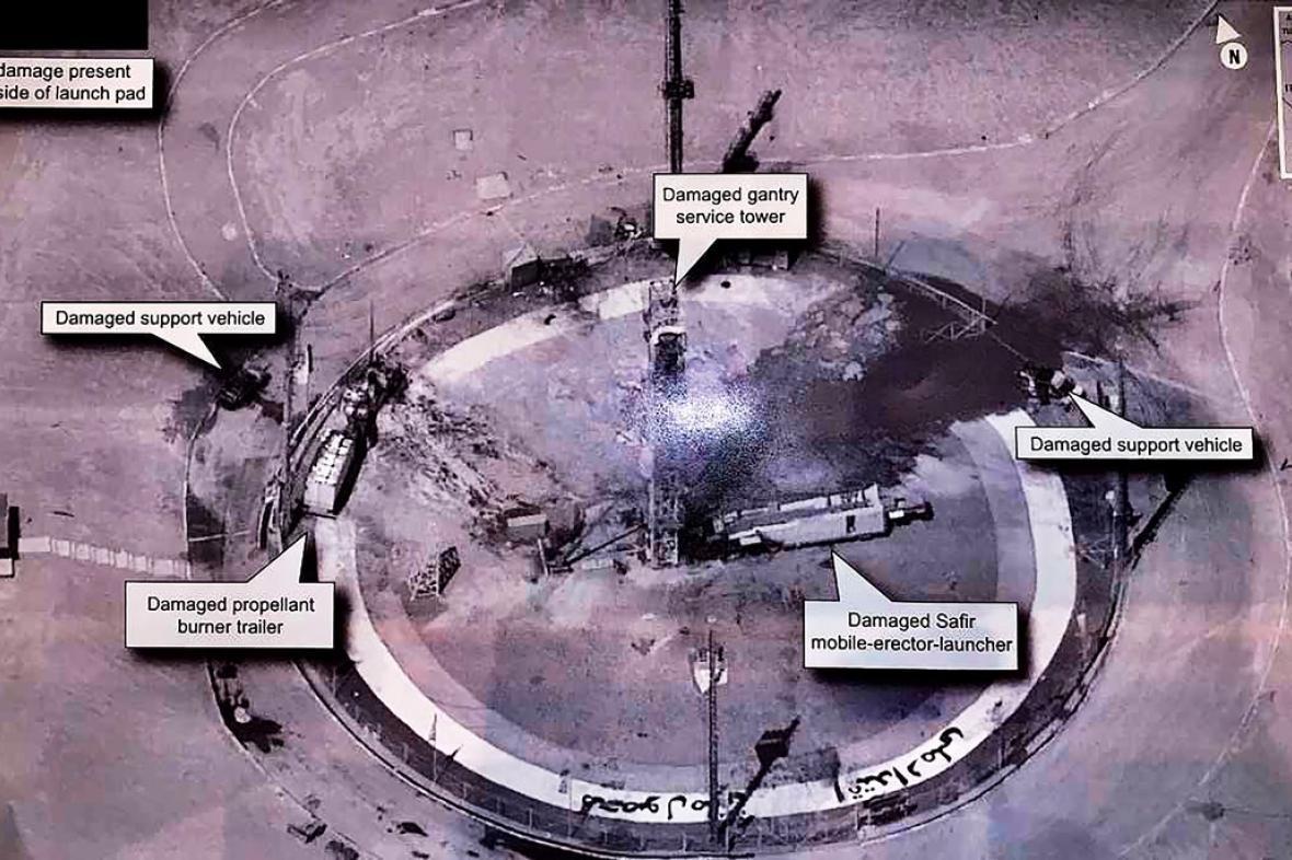 Snímek íránského zařízení zveřejněný Donaldem Trumpem