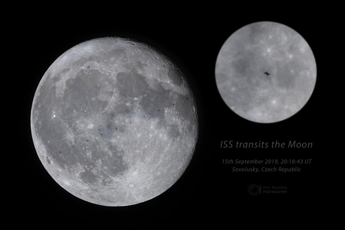 ISS před Měsícem