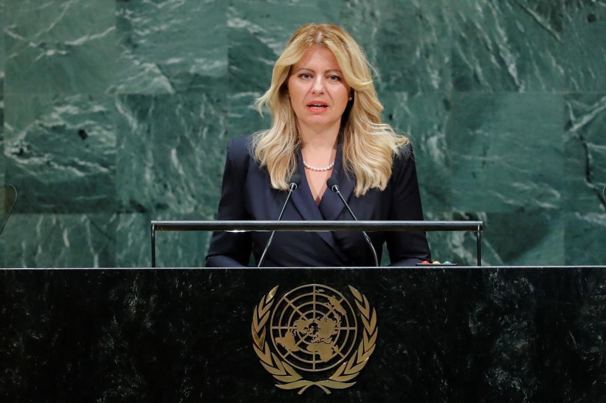 Slovenská prezidentka Zuzana Čaputová v OSN