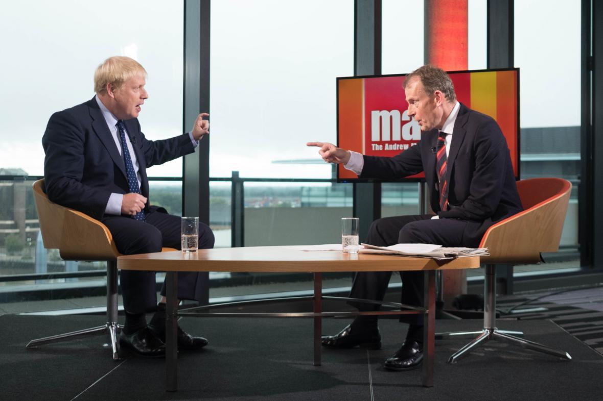 Boris Johnson v rozhovoru pro BBC