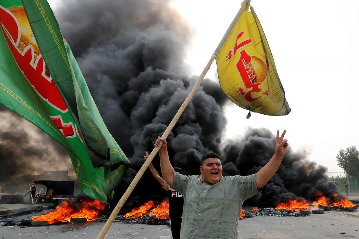 Násilné protesty v Bagdádu