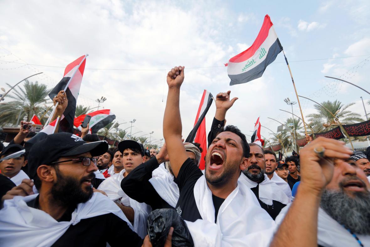 Protesty v iráckém městě Karbalá
