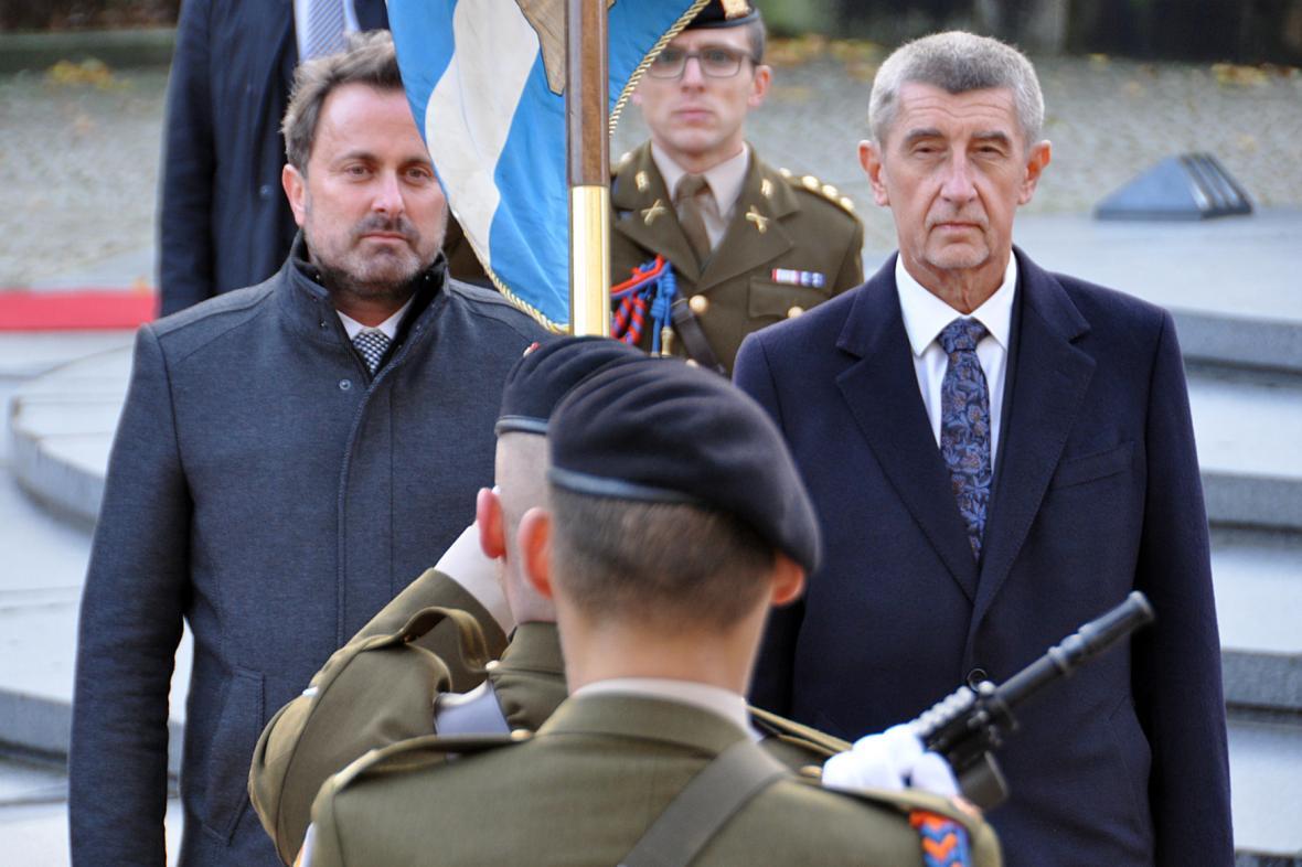 Andrej Babiš a Xavier Bettel