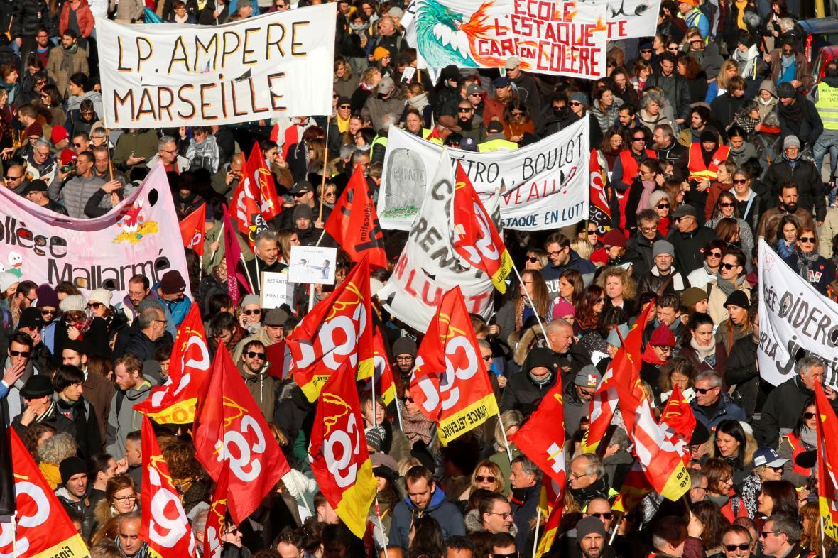 Stávka v Marseille