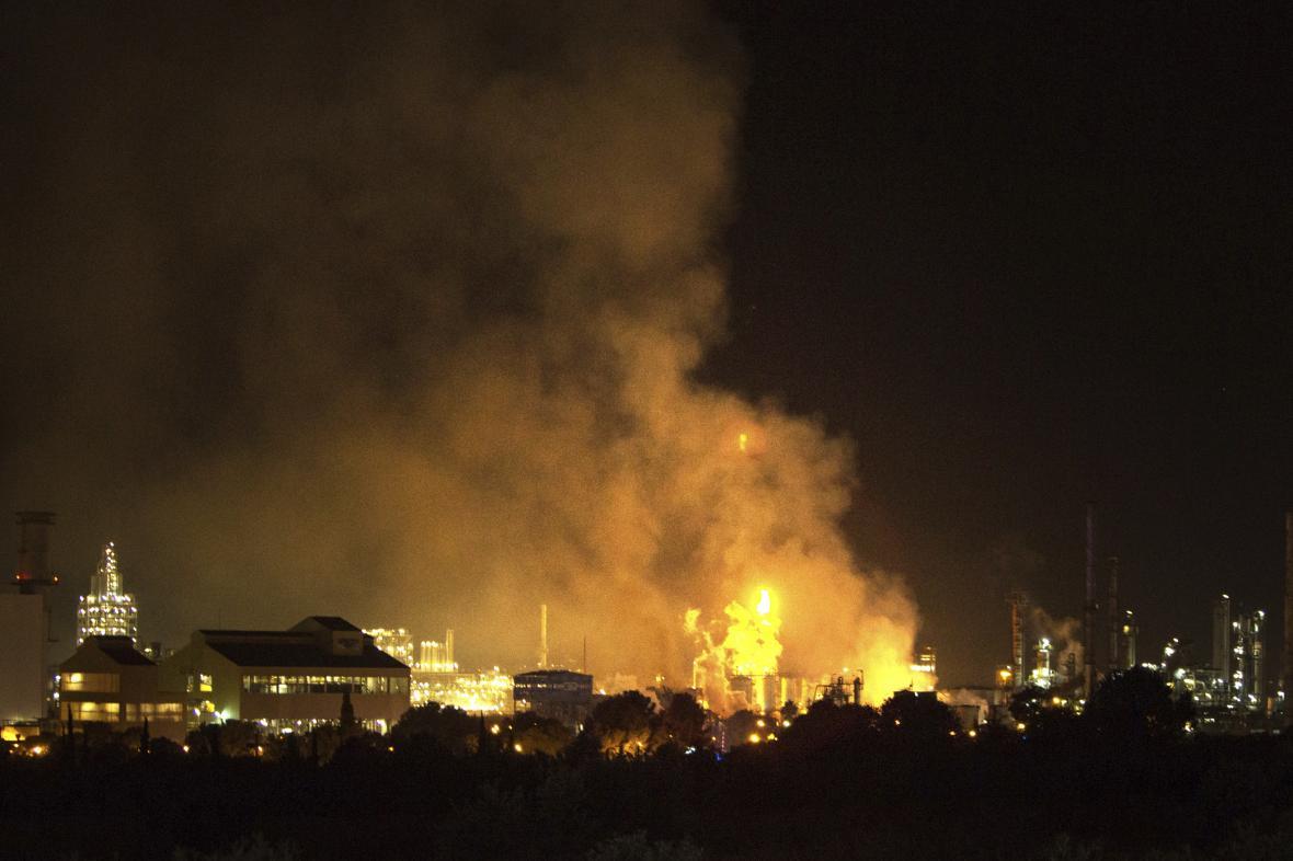 Výbuch chemičky v Katalánsku