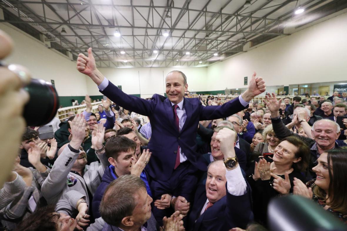 Lídr strany Fianna Fáil Micheál Martin