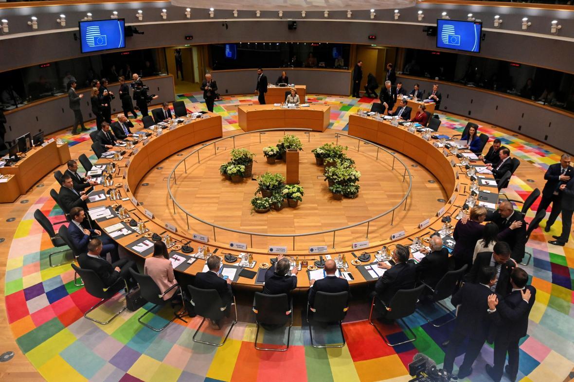Lídři EU na summitu v Bruselu