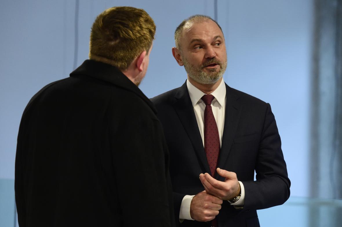 Ivan Langer se svým advokátem