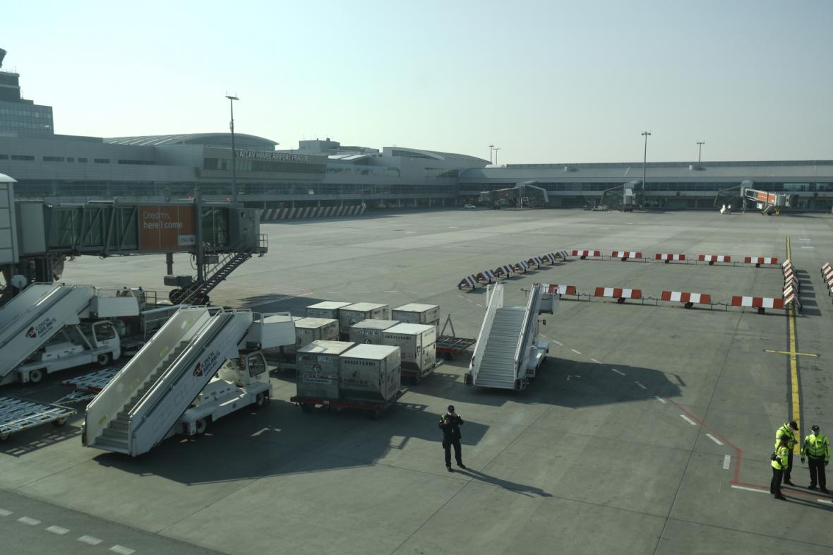 Prázdné Letiště Václava Havla