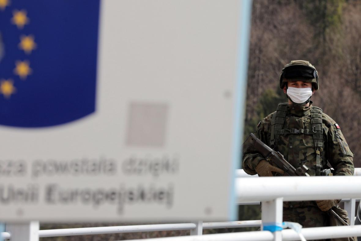 Pohraniční stráž na hranici mezi Polskem a Slovenskem