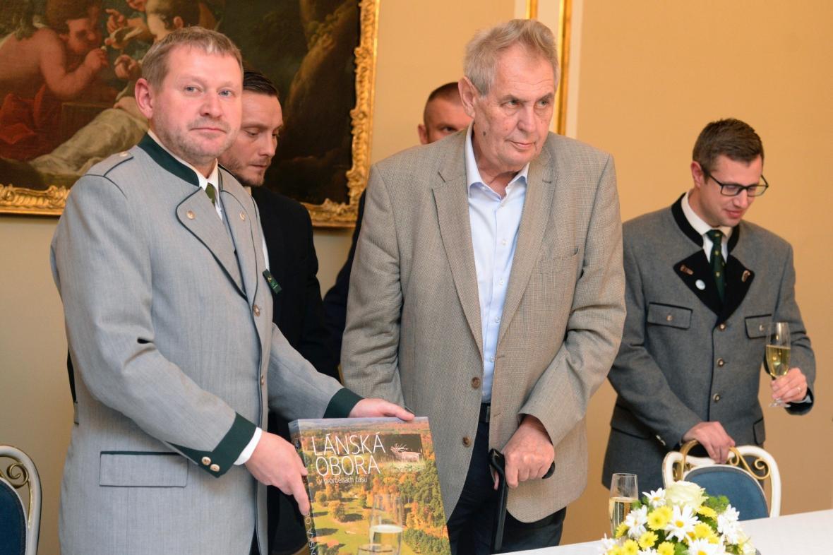 Miloš Balák s prezidentem Milošem Zemanem
