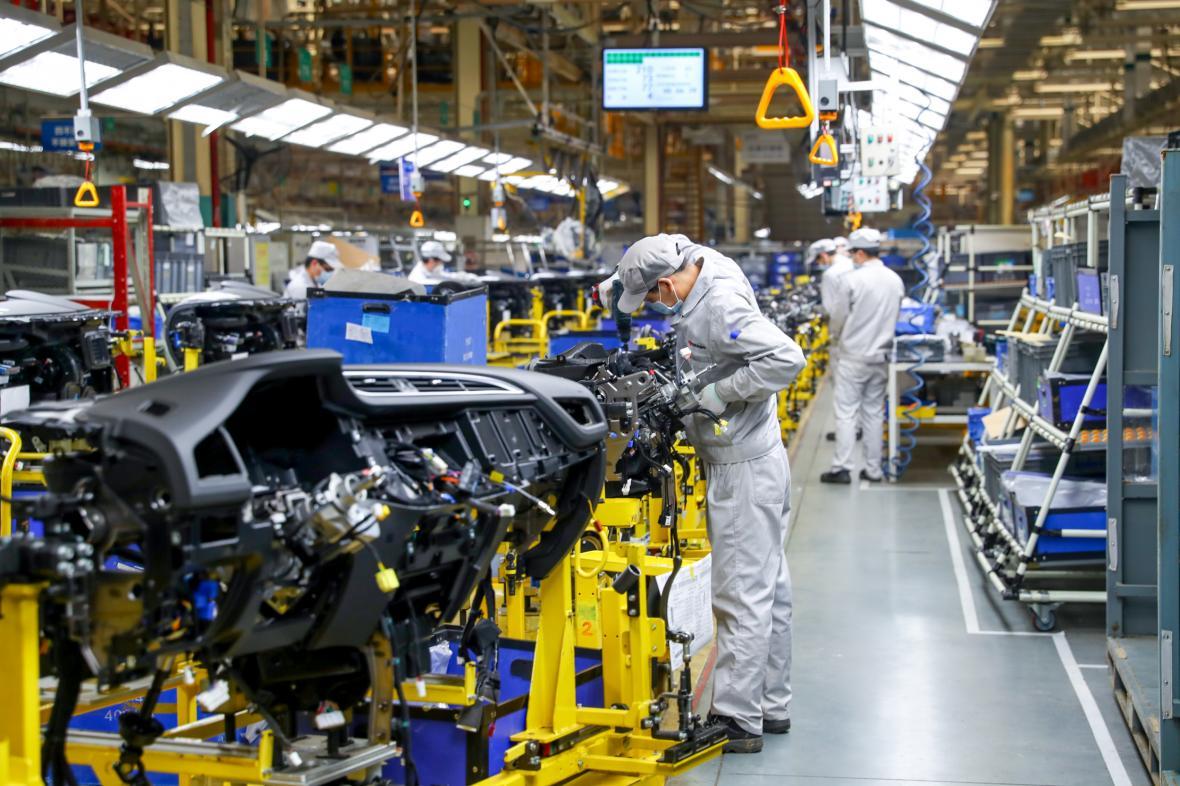 Produkce aut v Číně