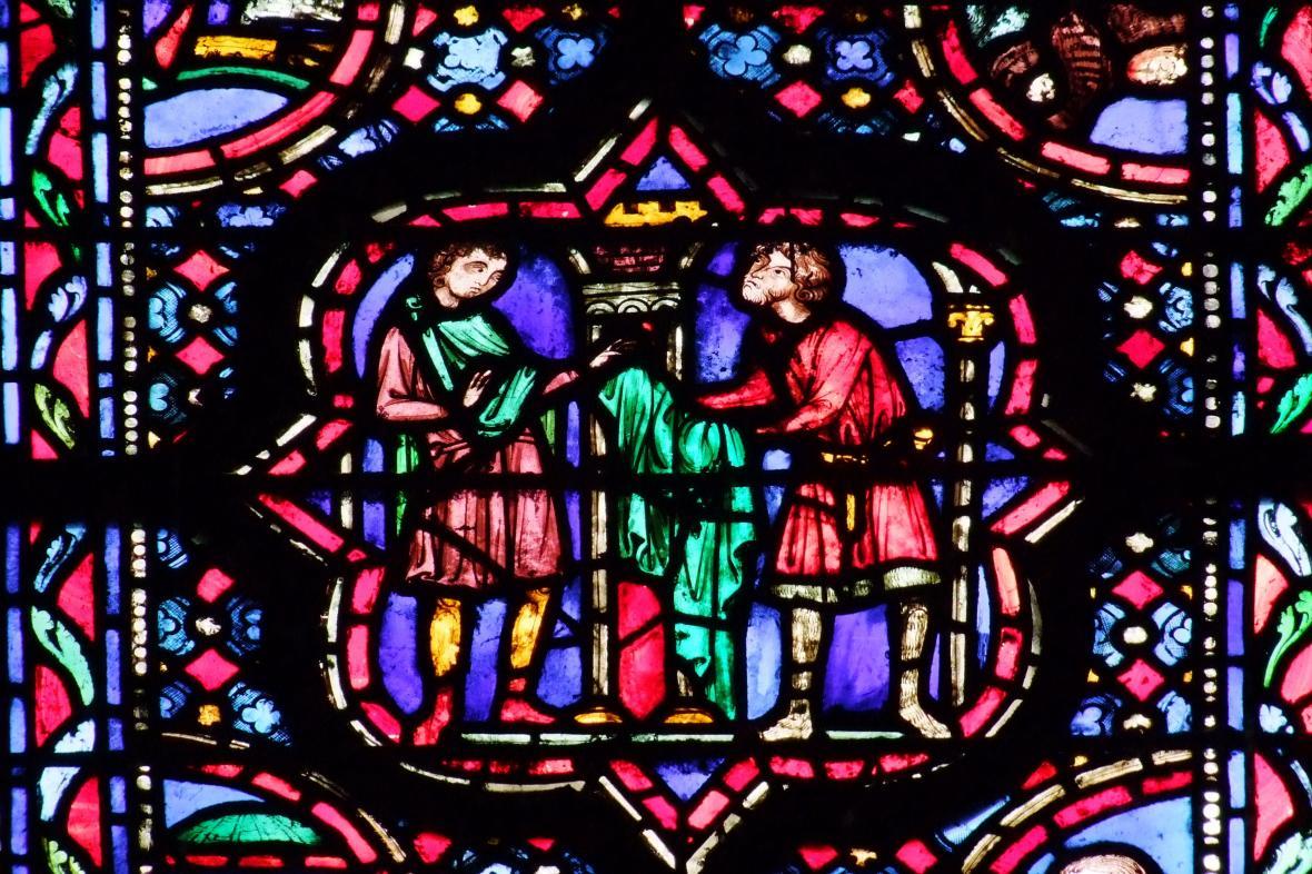 Vitráž v Sainte-Chapelle
