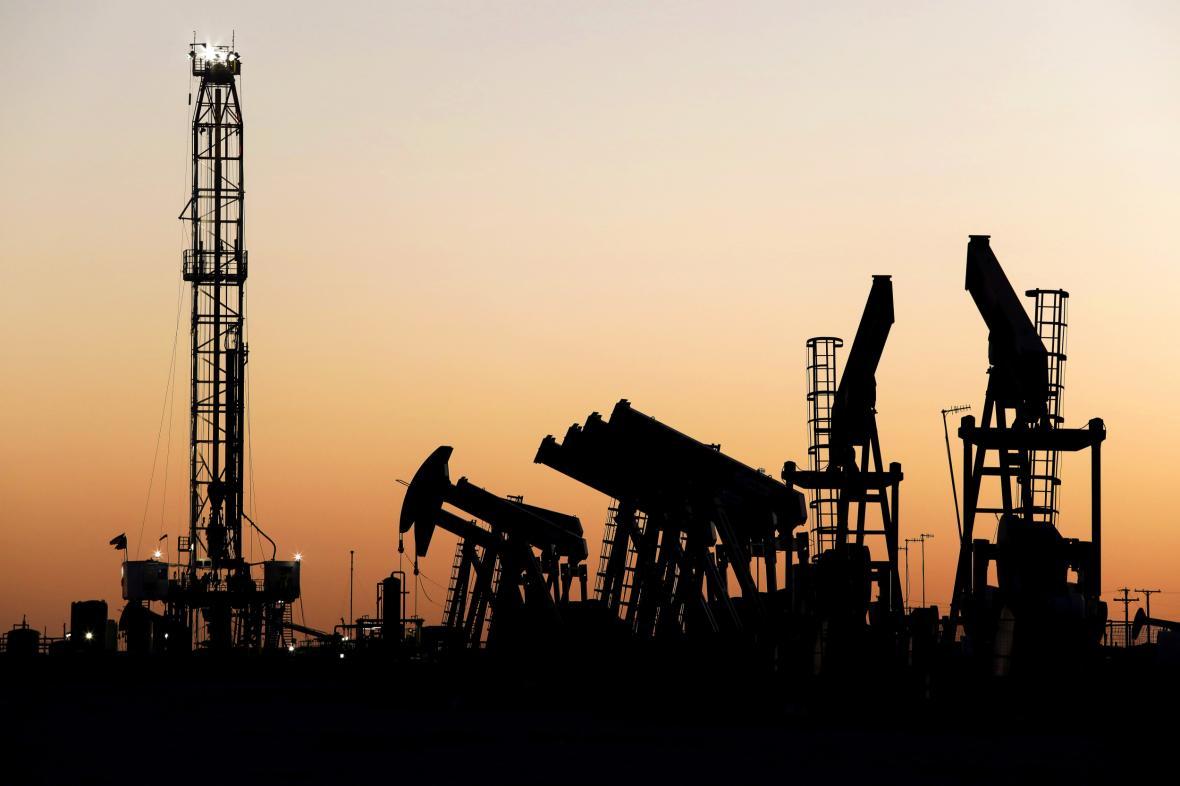 Ropná plošina v americkém Texasu
