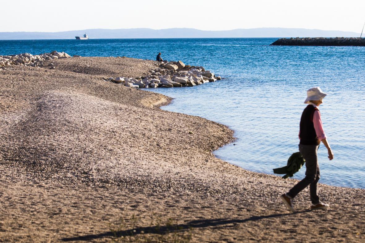 Pláž v chorvatském Splitu