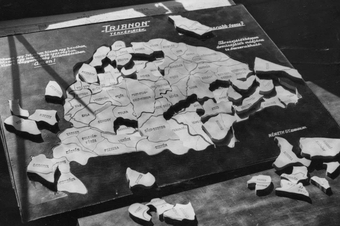 Trianonská smlouva - Uhersko jako puzzle