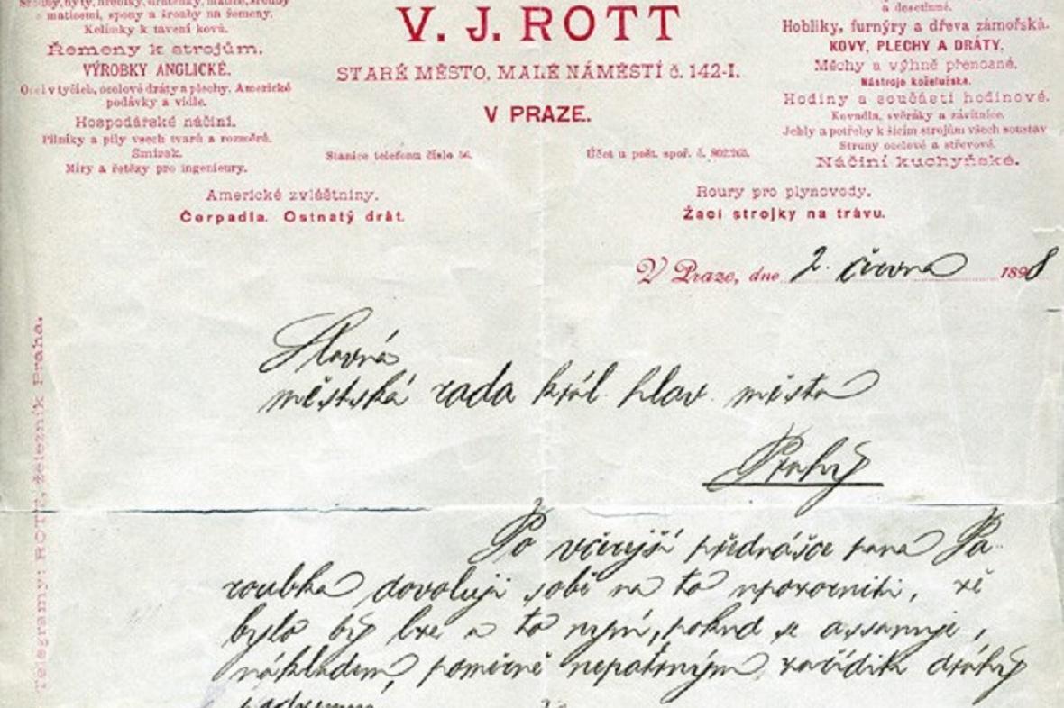 Návrh Ladislava Rotta na pražské metro (1898)