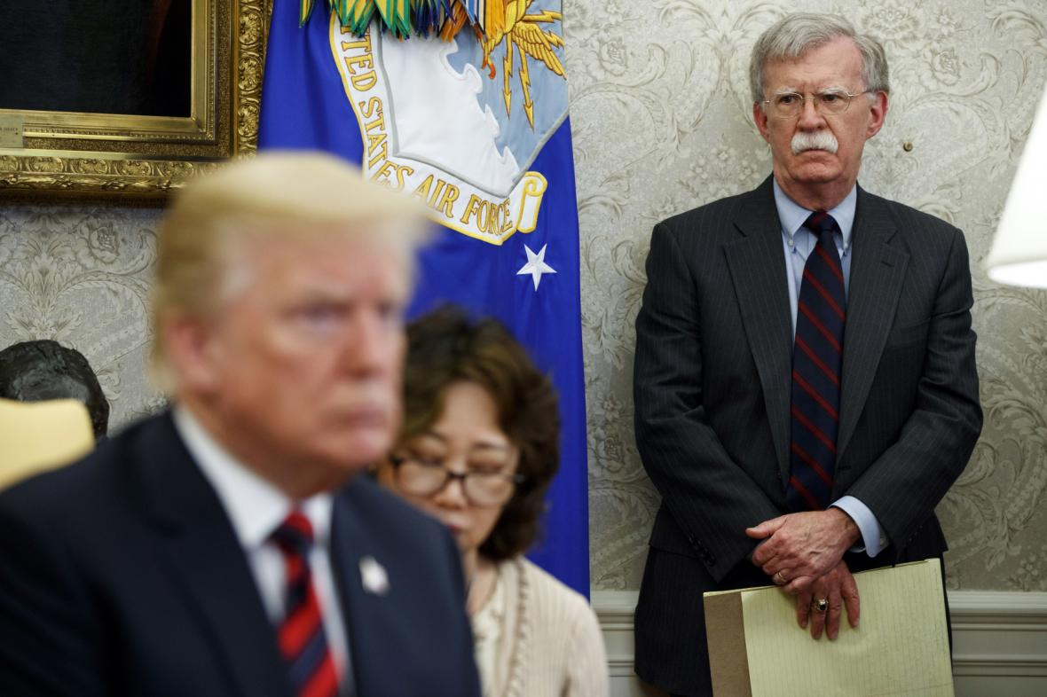 John Bolton a Donald Trump