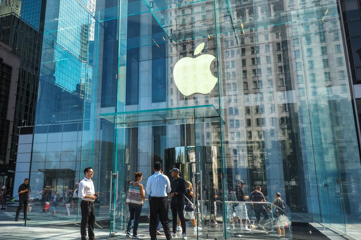 Středisko firmy Apple na Manhattanu v New Yorku