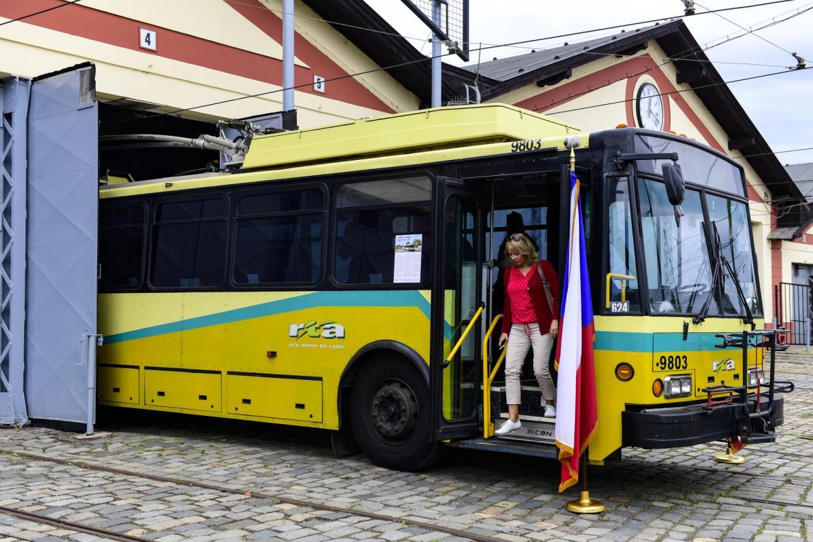 Trolejbus 14TrE, který jezdil v Daytonu