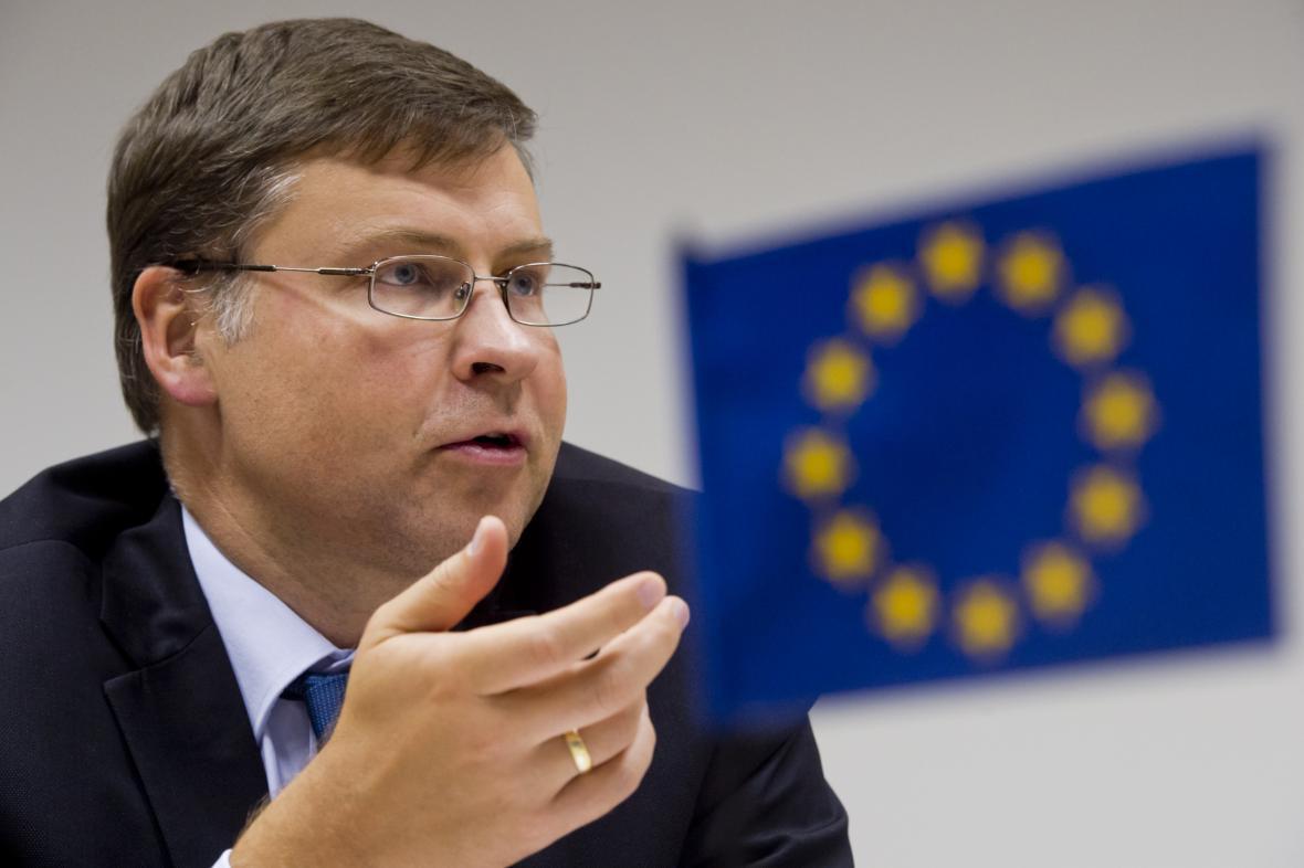 Místopředseda Evropské komise Valdis Dombrovskis