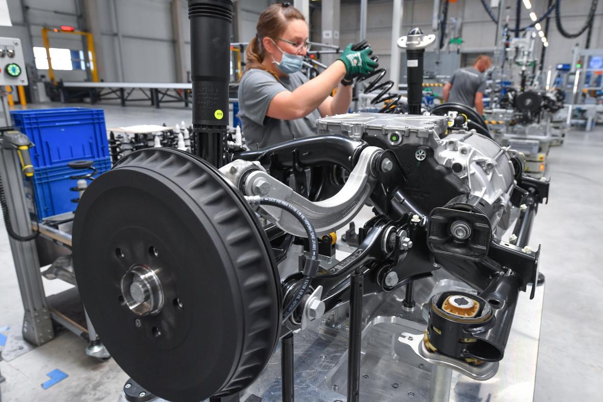 Výrobní hala Volkswagenu v průmyslovém parku