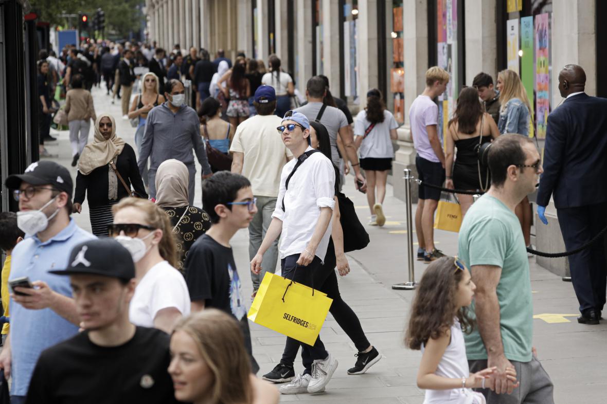Nákup v Londýně