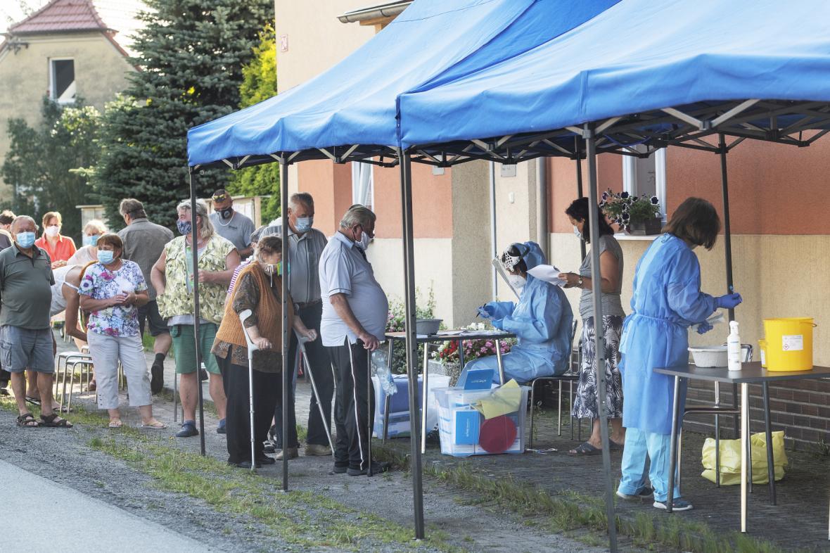 Testování v Tatiné na Plzeňsku