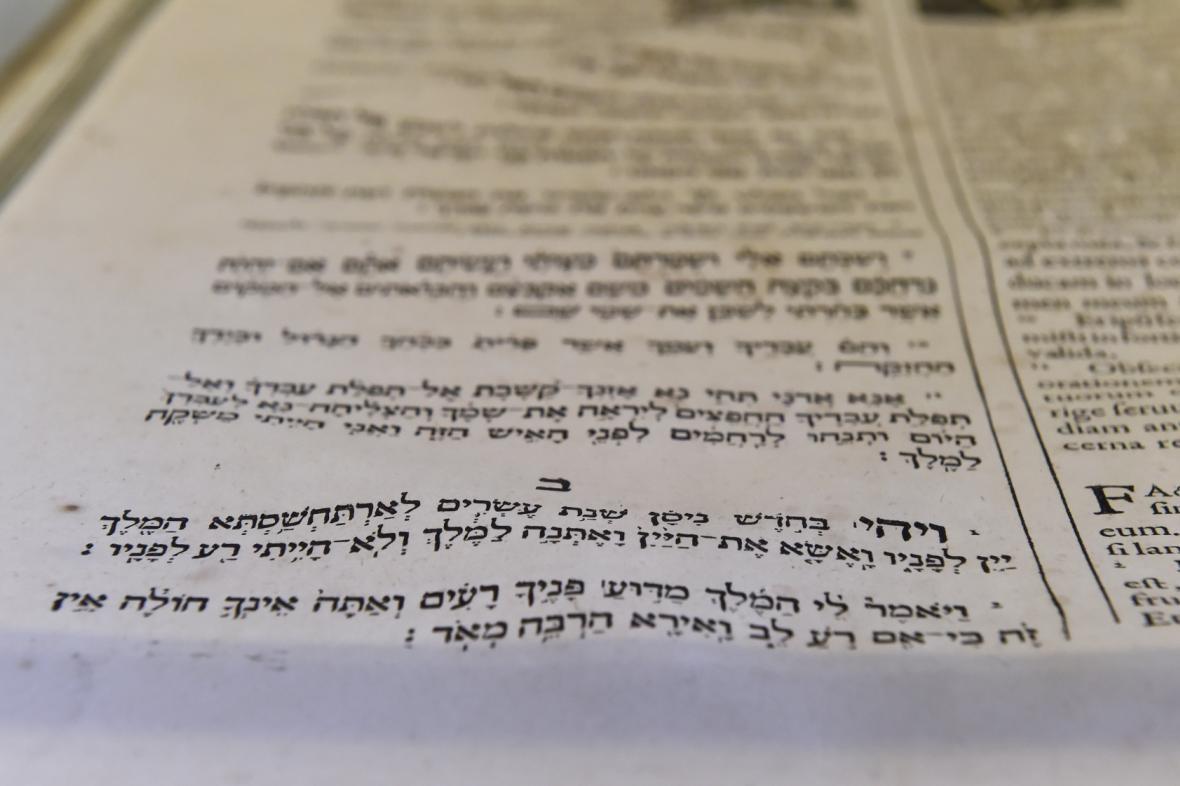 Bible obsahuje paralelní hebrejsko-latinský a řecko-latinský překlad