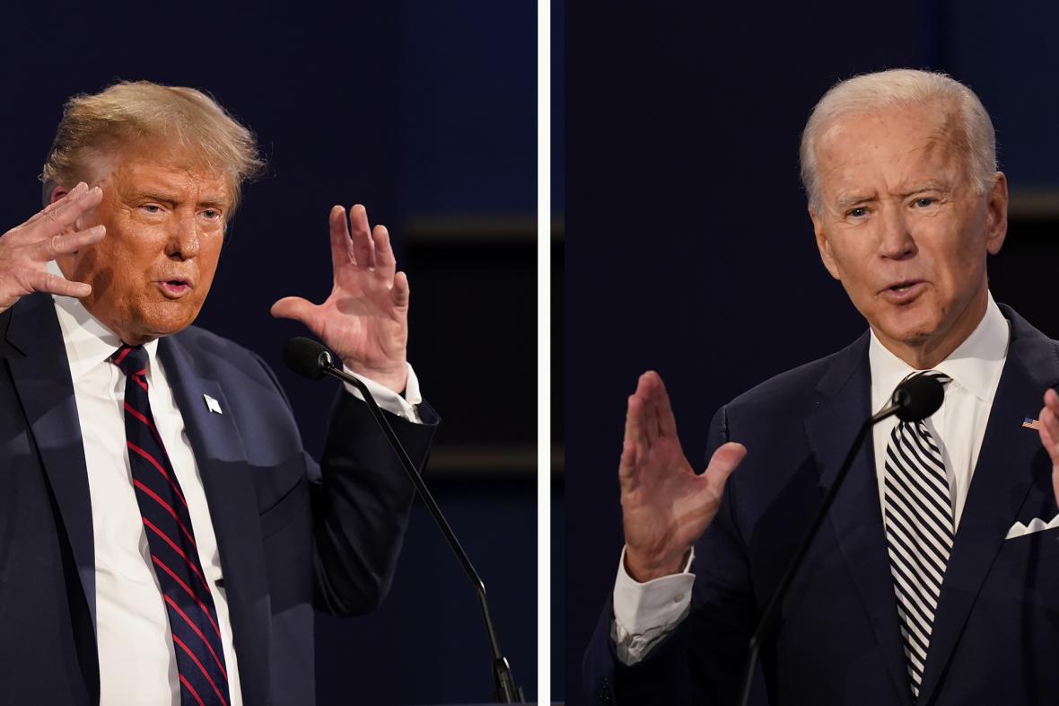 Donald Trump a Joe Biden