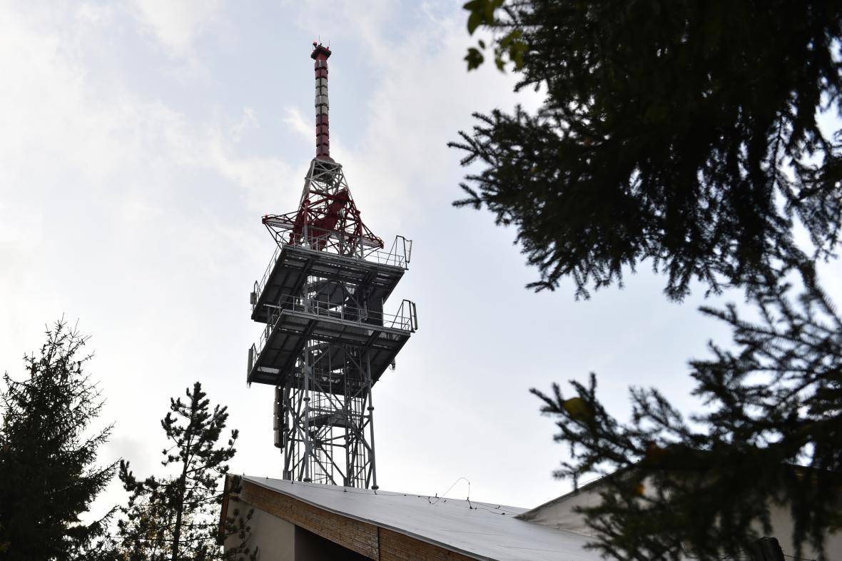 Televizní vysílač na Ploštinách u Valašských Klobouk na Zlínsku