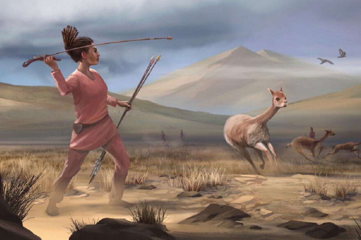 Vizualizace pravěké lovkyně z Jižní Ameriky