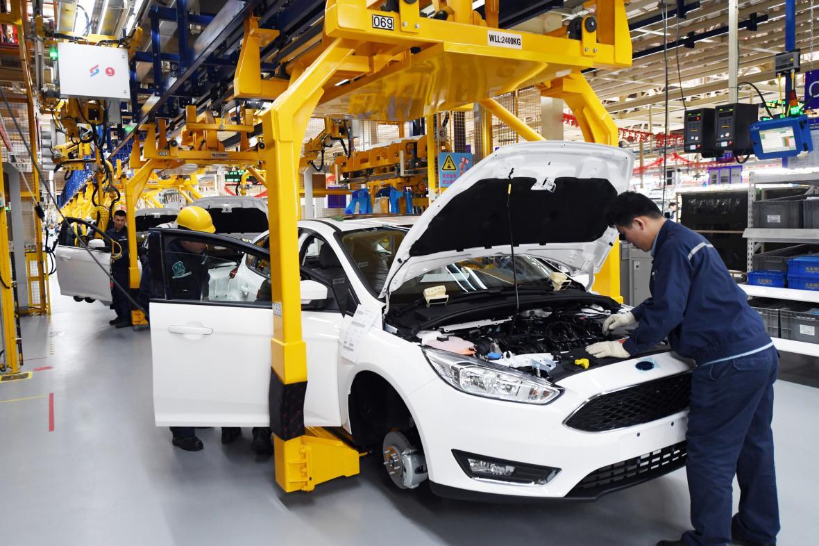 Výroba aut v Číně