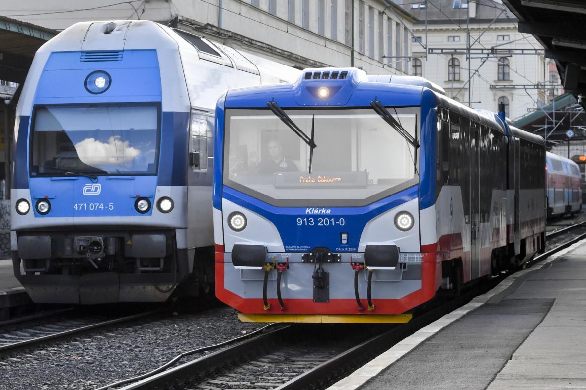 Vlaky na Masarykově nádraží