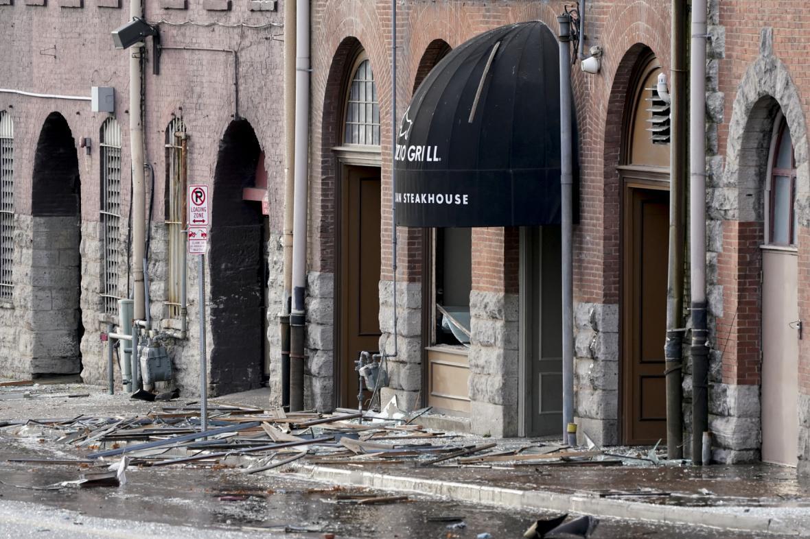 Výbuch v centru amerického města Nashville