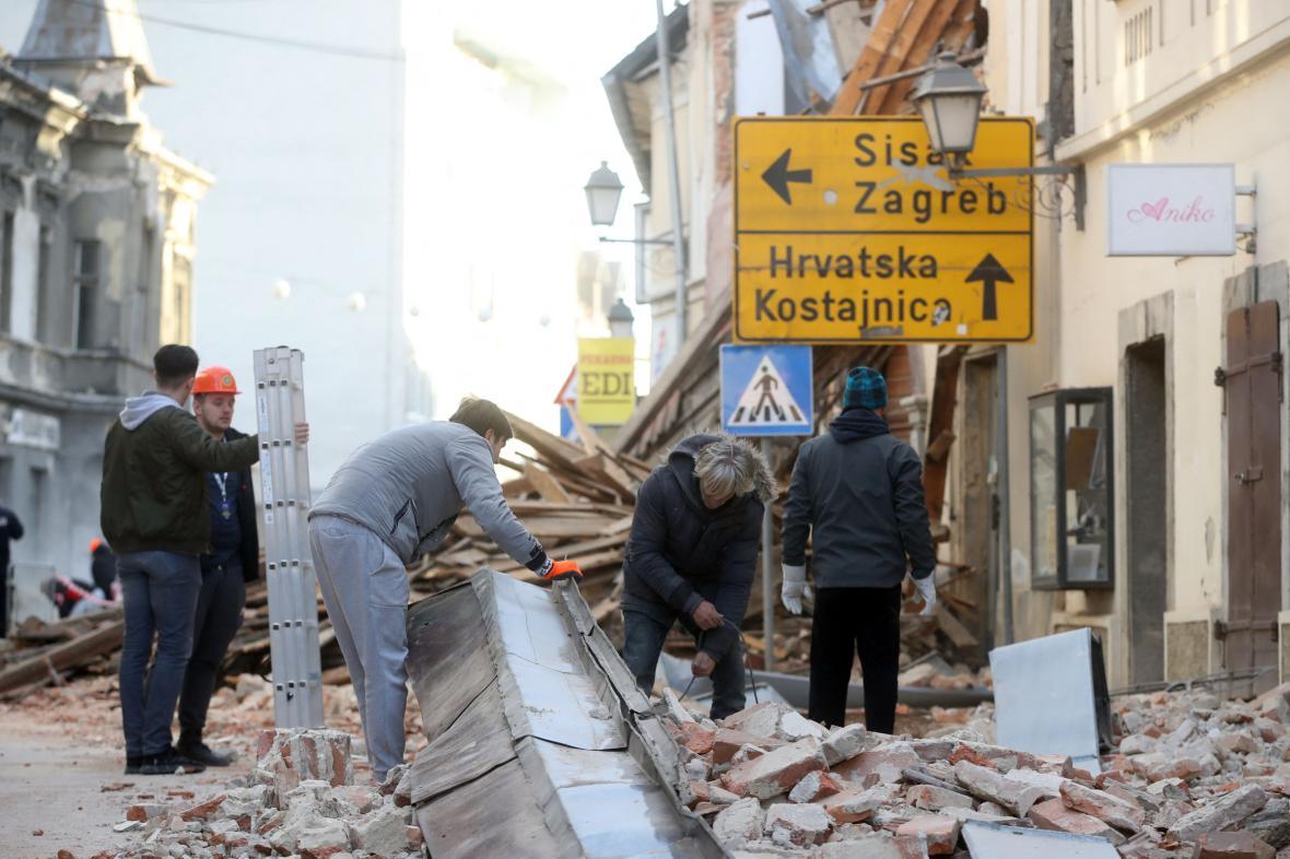 Zemětřesení v Chorvatsku způsobilo velké škody