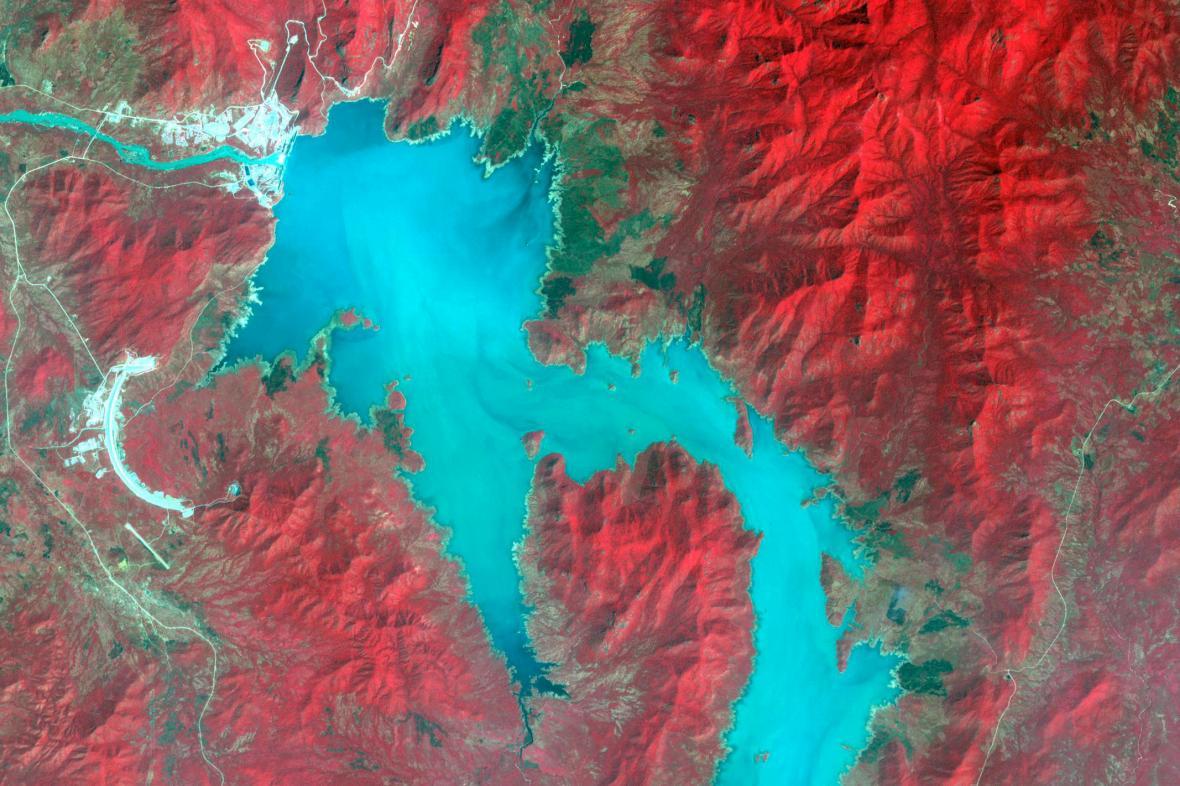 Nádrž Velké přehrady etiopského znovuzrození, stav v listopadu 2020