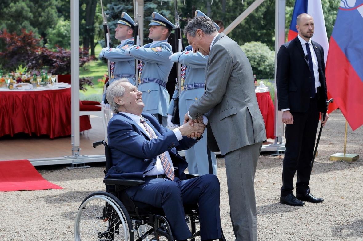 Prezident Miloš Zeman se slovinským prezidentem Borutem Pahorem