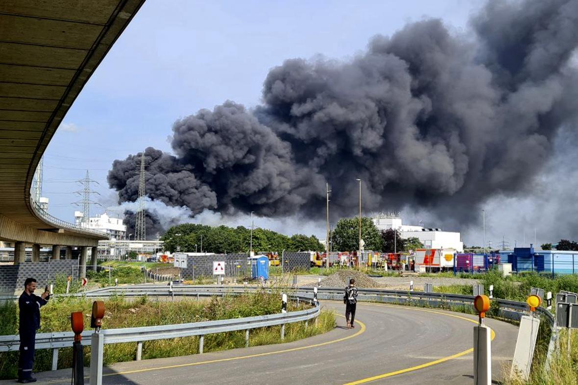 Exploze chemičky v Leverkusenu