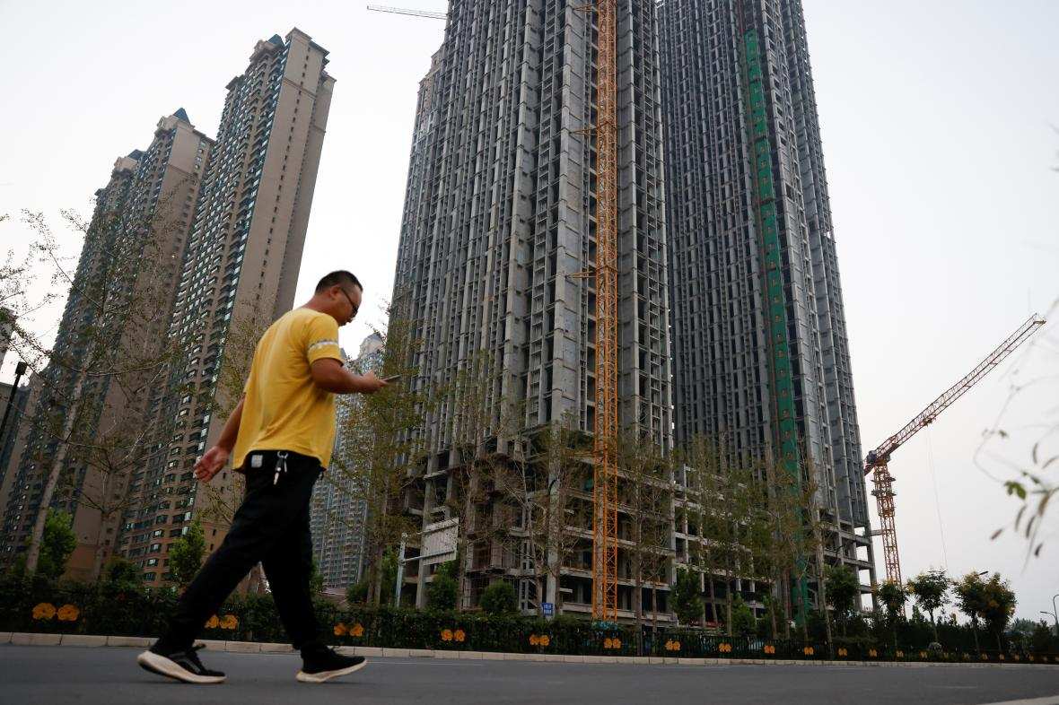 Bytový komplex postavený společností Evergrande Group v Luo-jangu