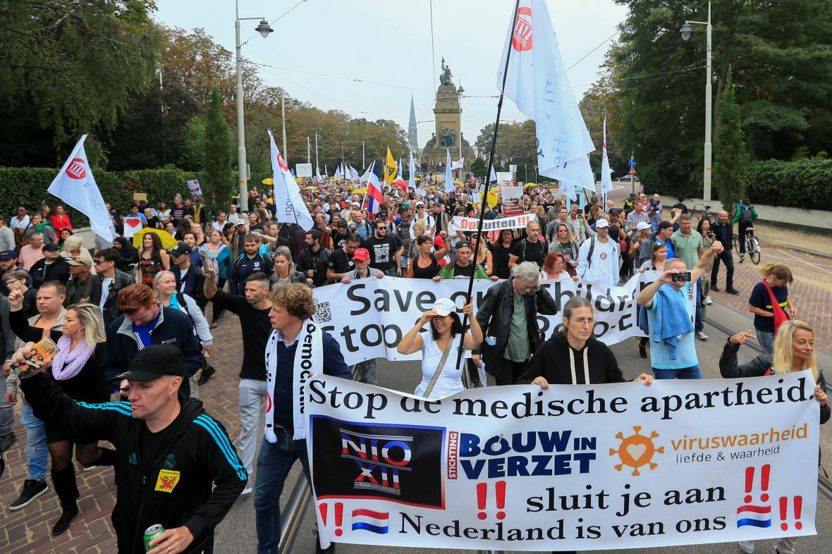 Protest v nizozemském Haagu