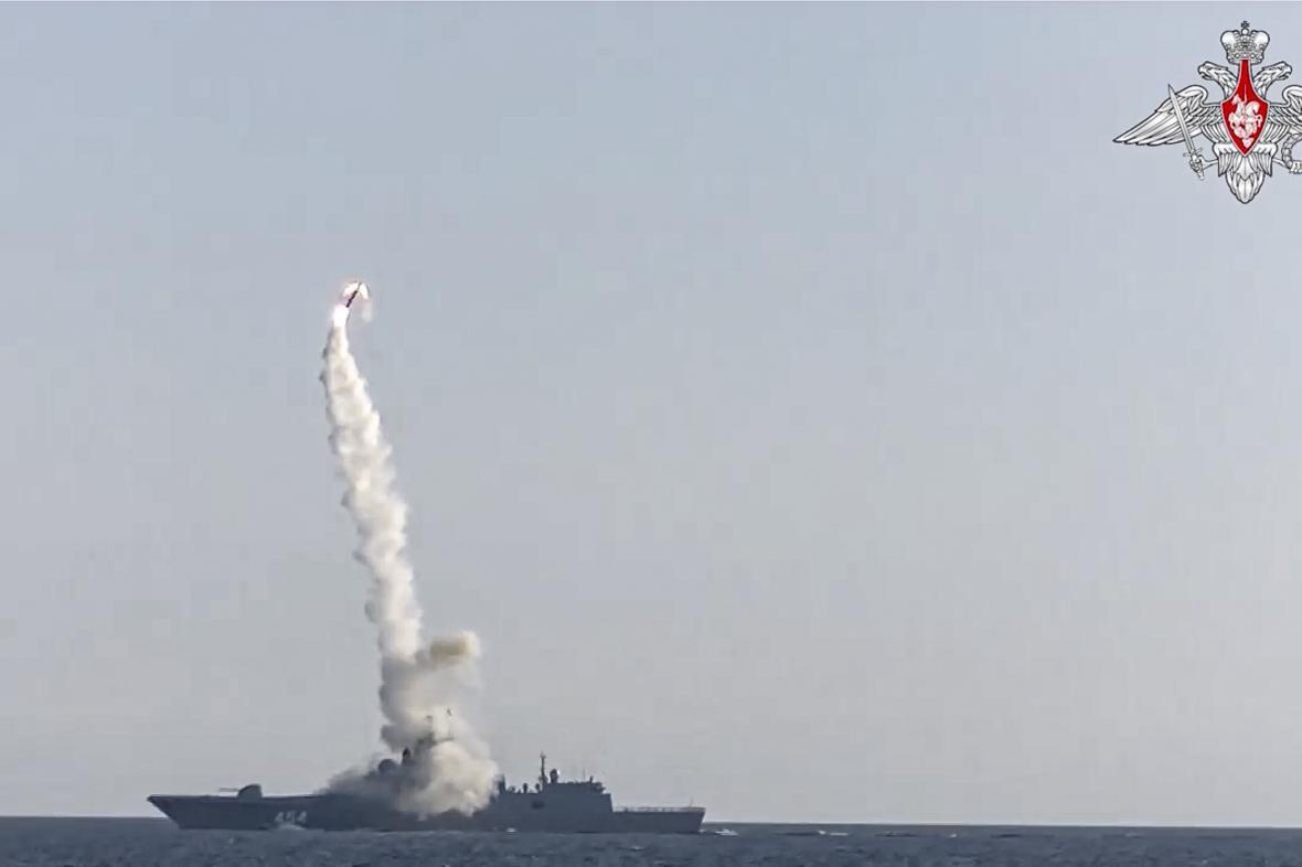 Hypersonické střela Zirkon (na snímku test z 19. července)