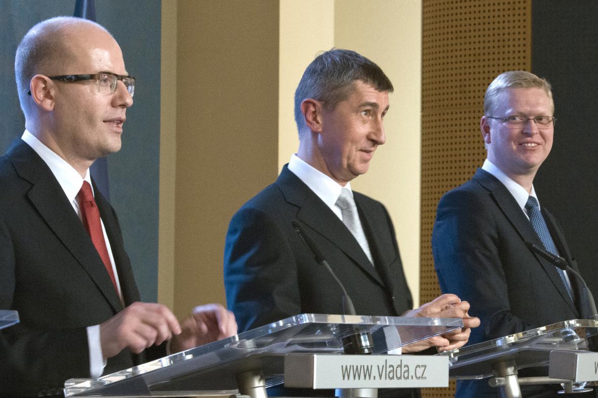 Bohuslav Sobotka, Andrej Babiš a Pavel Bělobrádek