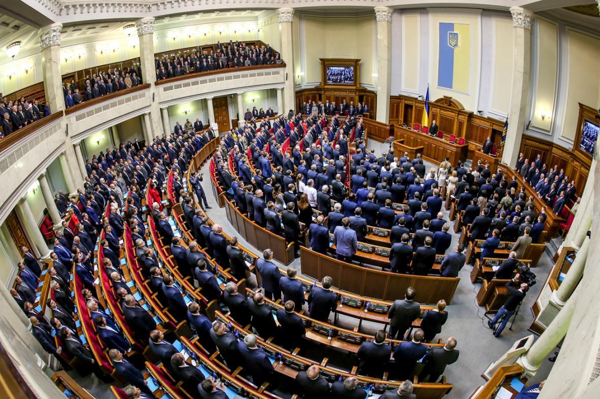 Ustavující schůze nového ukrajinského parlamentu