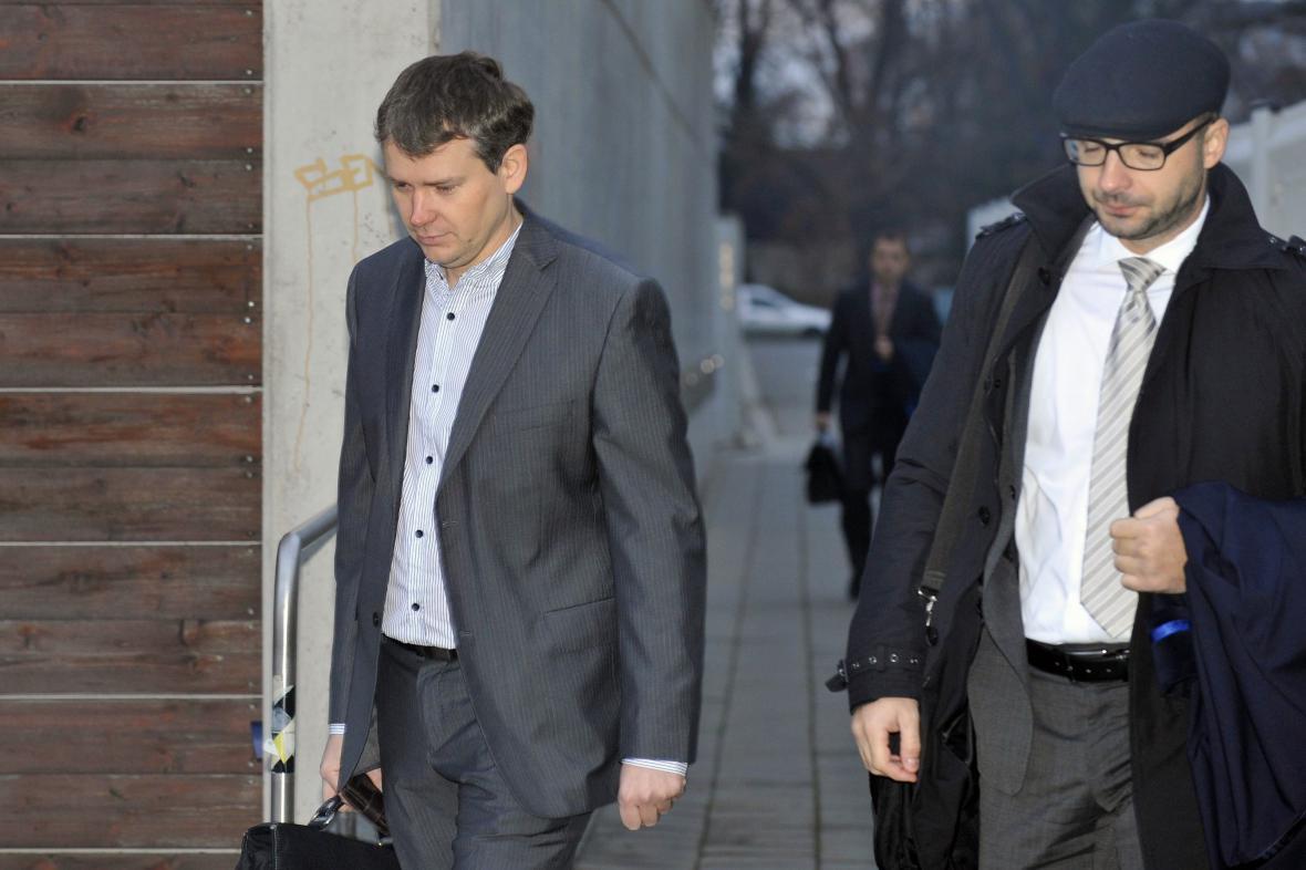 Tomáš Březina (vlevo)