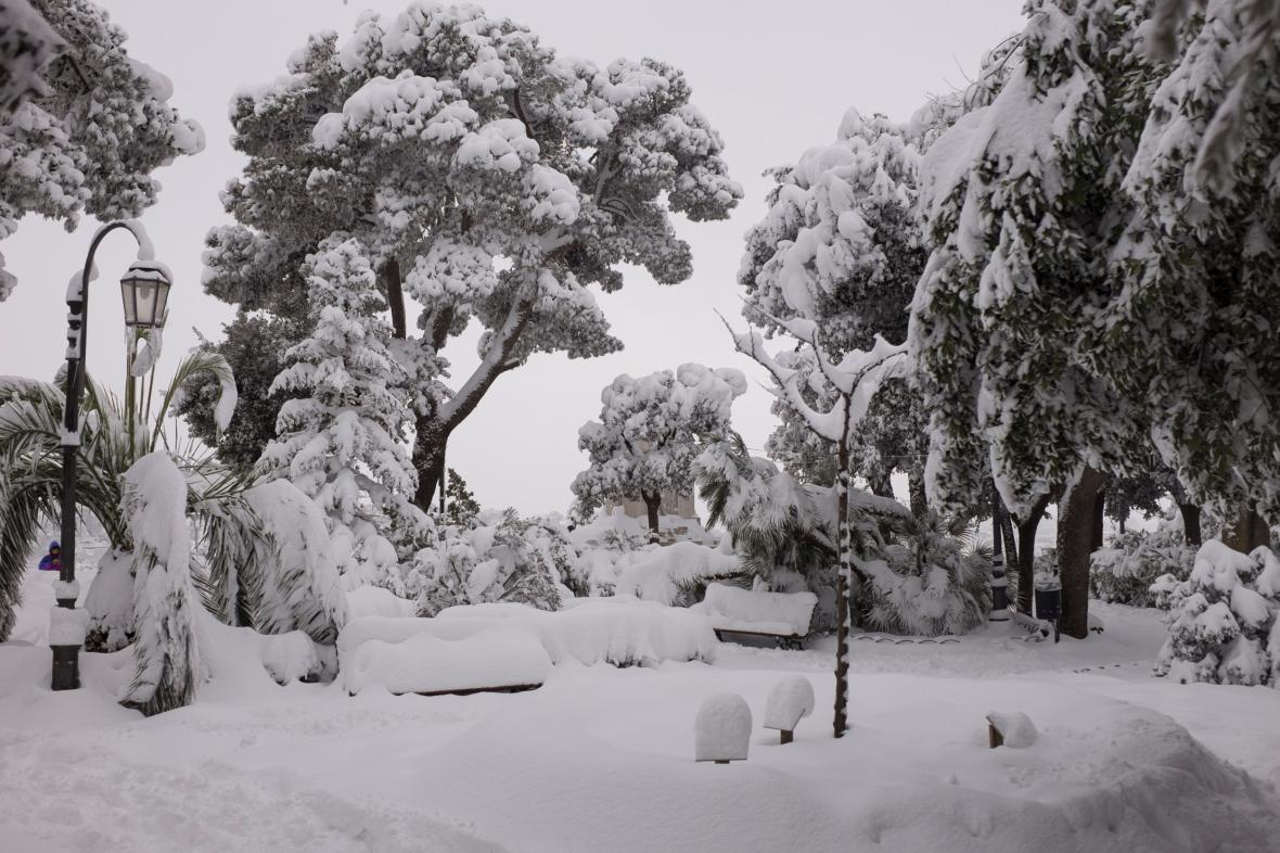 Jižní Itálie pod sněhem