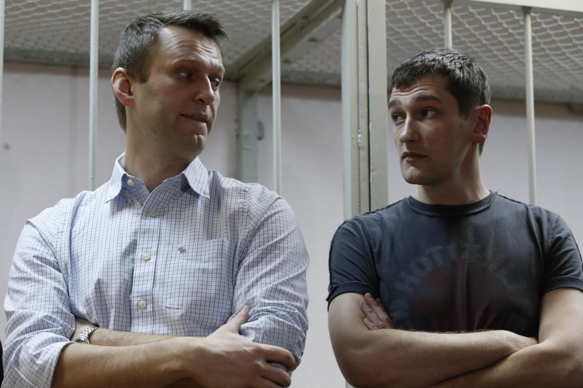 Alexej Navalnyj a jeho bratr Oleg